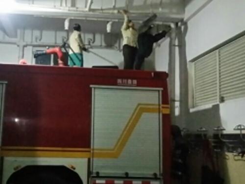 成都消防中队保洁